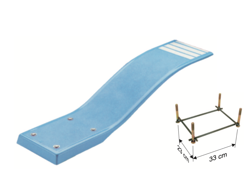 Schwimmbad Sprungbrett Trampolin ELASTICO I