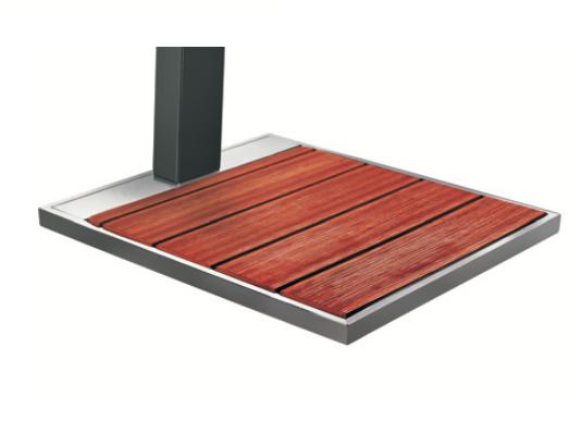 SOLARIS SO2000 Bodenplatte mit Holzauflage